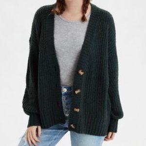 American Eagle Oversized Knit Cardigan Sweater